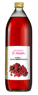 Pur jus de fruits rouges Les Vergers St Joseph